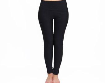 Black Leggings, High Waist Yoga Pants, Black Yoga Tights, High Waist Leggings, Black Long Leggings, Custom Leggings