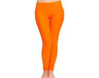 Orange leggings, Belly bottom, Orange yoga pants, Yoga tight