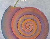 Painting Daisy Sea Shell ...