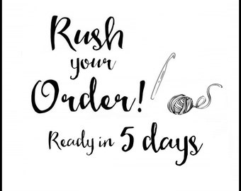 Five day RUSH for your ToryMakes order!