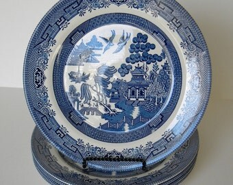 EACH Churchill Blue Willow Dinner Plates Replacements