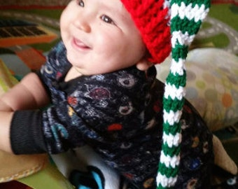 Crochet Stocking Holiday Christmas Elf Hat