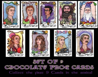 Chocolate Frog Card Volume 1 Set Wizards and Witches