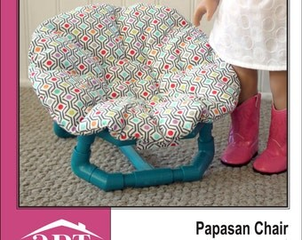 Pixie Faire AptOne8 Papasan Chair PVC Pattern for 18 inch American Girl Dolls - PDF