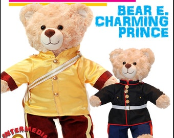 Pixie Faire 18 On Main Bear E. Charming Prince Doll Clothes Pattern for Build-A-Bear Dolls - PDF
