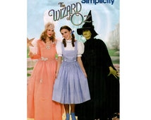 WIZARD OF OZ ADuLT Costume Pattern Good Witch Glenda, Dorothy & Wicked Witch of West Size 6 8 10 12  Simplicity 4316 UNCuT Sewing Patterns