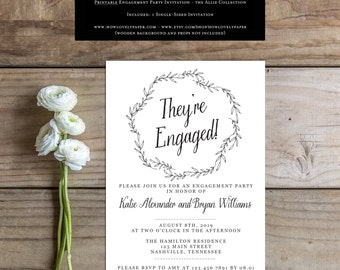 Printable Engagement Party Invitation - the Allie Collection