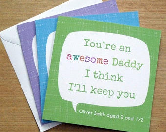 Father's Day Card You're Awesome - Personalised
