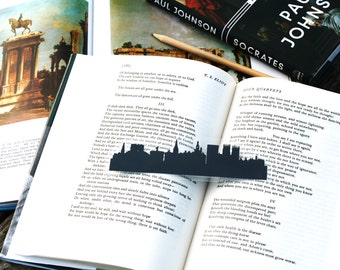 York, England - Hand-cut Silhouette Bookmark, England Bookmark, Travel Bookmark, Yorkshire, York Minster
