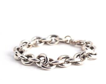 925 sterling Silver chunky chain bracelet - statement bracelet - birthday gift idea- Free Shipping
