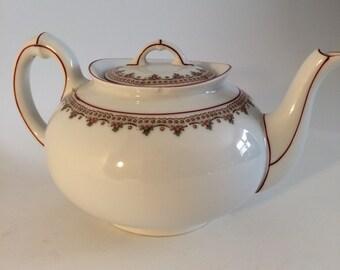 Little Teapot Sweet Round Porcelain Red Floral Bavaria