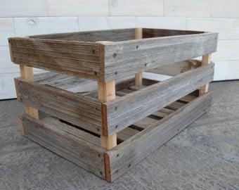 "Barn Wood Milk Crate 24"" x 16"" x 12"""