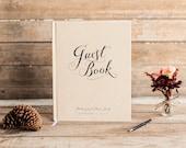 Wedding Guest Book Wedding Guestbook Custom Guest Book Personalized Customized rustic wedding keepsake wedding gift calligraphy rustic book
