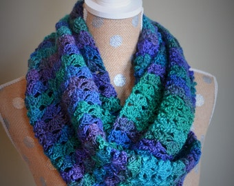 Shell Lace Crochet Scarf - Infinity Scarf Available