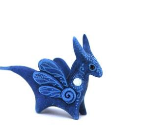 Moon Fairy Dragon Figurine Sculpture Gift Fantasy