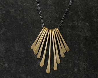 As Seen at GBK's 2015 MTV Movie Awards Gift Lounge: Brass and Sterling Silver Fringe Necklace