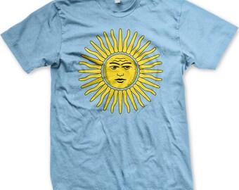 Argentina Sol de Mayo Men's T-shirt, National Emblem of Argentina, Argentine Sun of May, Pride Tshirt, Men's Argentina T-shirts GH_00363_tee