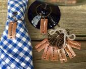 10 Custom Napkin Ring/Wine Charms