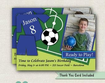 Soccer Birthday Invitation -  Soccer Invitation - Soccer Invite