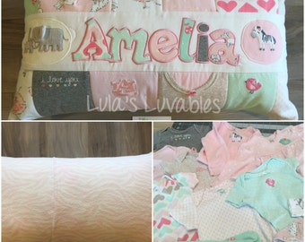 Baby Clothes Memory Pillow Keepsake