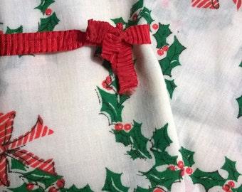 Christmas Napkins Vintage CLOTH