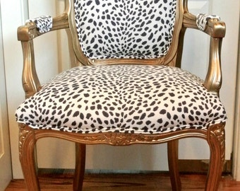 Customizeable French Arm Chair