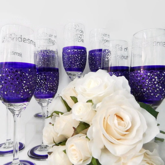 Bridal Party Gifts 11 Personalized Wedding Champagne Glass Gift Set ...