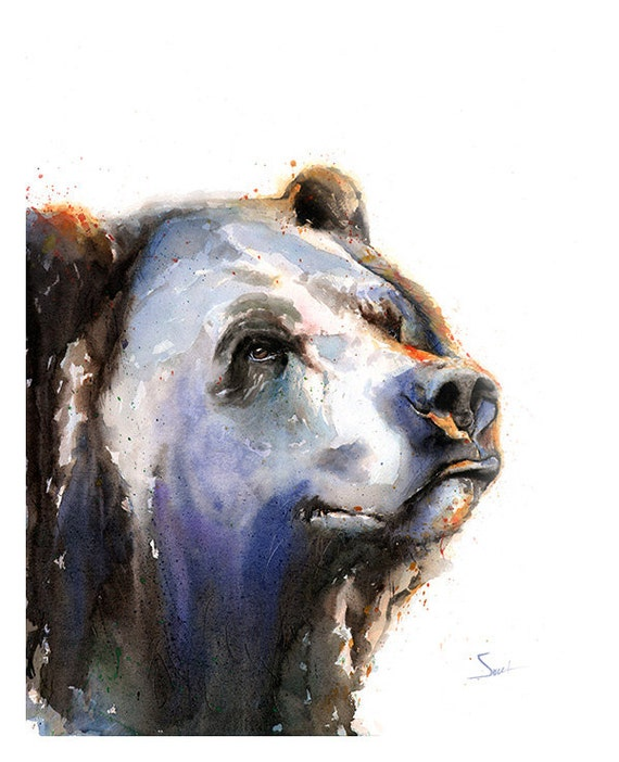 Bear Wall Art bear art print bear watercolor bear wall art bear decor