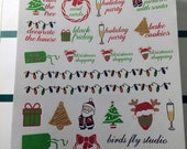 Christmas Bucket List Stickers / Christmas To Do List Sticker / Planner Winter Holiday Christmas Stickers for Erin Condren  / Xmas reminder