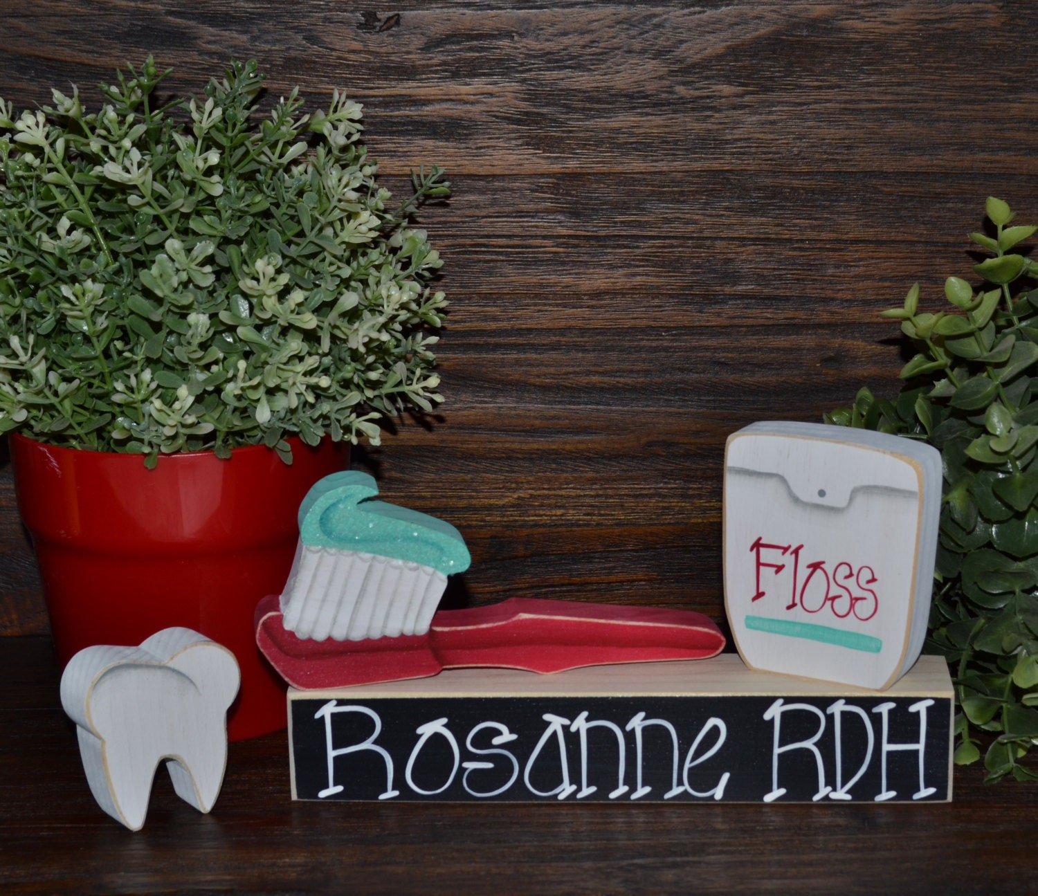 Personalized Dental Hygienist Gift Block Set Personalized