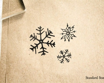 Snowflake Rubber Stamp - 2 x 2 inches