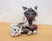 Polymer Clay Unicorn Collectible Sculpture - Melody