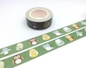cute Owl tape 10M Owl washi tape owl Cartoon owl sticker tape colorful owl paper tape kawaii pet Washi tape fancy animal tape dancing owl
