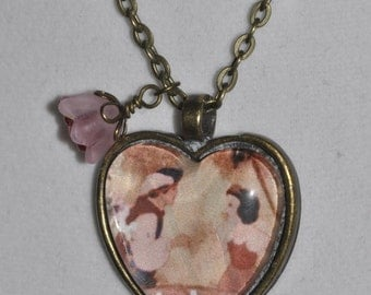 Snow White Prince Charming One Song Heart Wishing Well Necklace #26