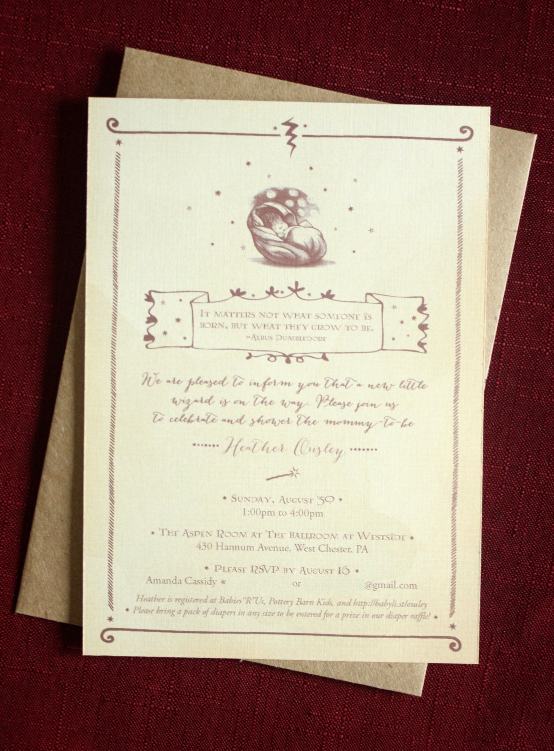 Harry Potter Baby Shower Invitations can inspire you to create best invitation template