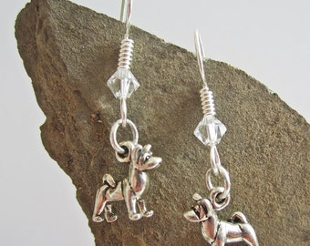 Akita Dangle Earrings - Sterling Silver Mini