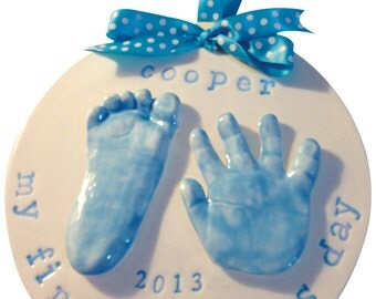 2 Handprint or Footprint Clay Keepsake