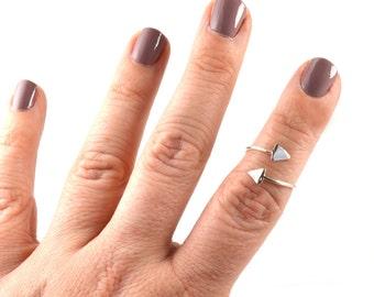Sterling Silver Midi Ring, Spike Midi Ring, Arrow Midi Ring, Triangle Midi Ring, Geometric Midi Ring