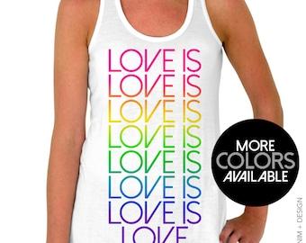 Gay Pride Tank Top - Love is Love Flowy Tank Top - Pride Shirt, LGBT Shirt, Gay Pride Shirt, LGBT Pride Shirt, LGBT Pride Tank, Gay Pride