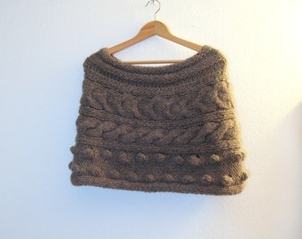Chunky crochet  capelet - Shrug - scarf - Stole - Wrap -Shawl -crochet poncho- scarves collar -bolero