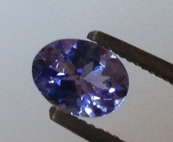 Crocus Tanzanite 0.90 Carats Oval 5.5x7.25mm Natural Solitaire Gemstone with Video