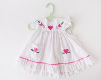 Vintage Youngland White Toddler Dress