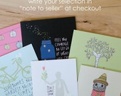 CARD SET of 6