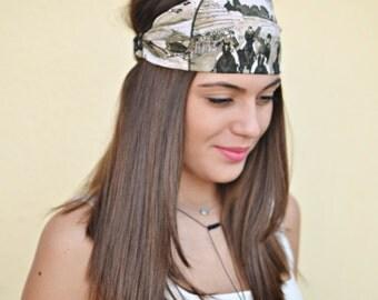 Cotton Headband, Green Headband, Running Headband, Yoga Headband, Boho Headband, Workout Headband, Womens Turban, Womens Headband