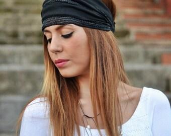 Dark Olive Headband, Black Headband,Bandana Headband, Elastic Headband, Fitness Headband, Vintage Headbands, Turban Headband, Womens Turban