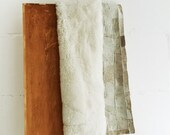 Bedspread or Carpet Small White - 70 x 160 Centimeters - Handmade Decorative Leather Rug.