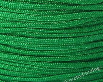 1.5mm Green Nylon Cord - Chinese Knotting Cord - Shamballa Macrame Beading  String -10 yards  -N002