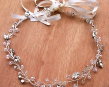 Wedding hair accessory - crystal beads - rhinestones