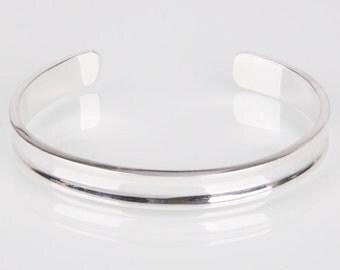 Sterling Silver Open Bangle Bracelet