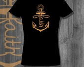 Anchored Faith T shirt Love T-Shirt  Black Lives Matter Plus Size Clothing African Clothing African Shirt Nubian Clothing Father's Day